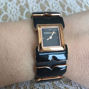 BCBG Maxazria genuine leather watch